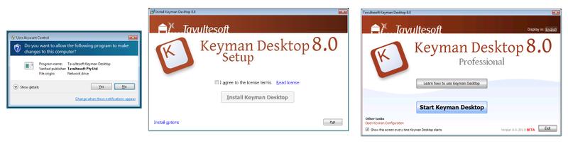Keyman 8 install process